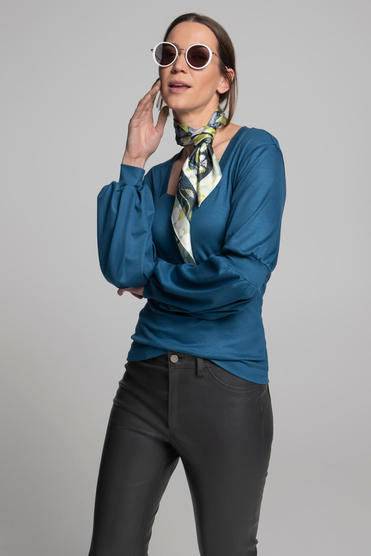 Langarm Shirt Puffärmel | Damen Langarmshirt | arrivato