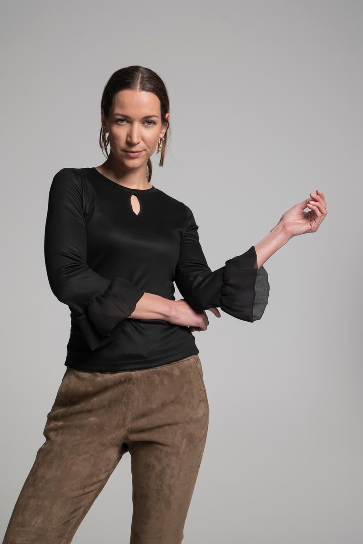 Shirt Volants | Damenshirt handgenäht | arrivato