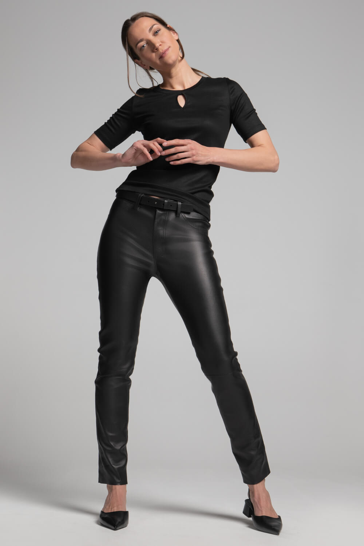 Damen Leder-Jeans | Nappaleder | Echtlederhose Damen | arrivato